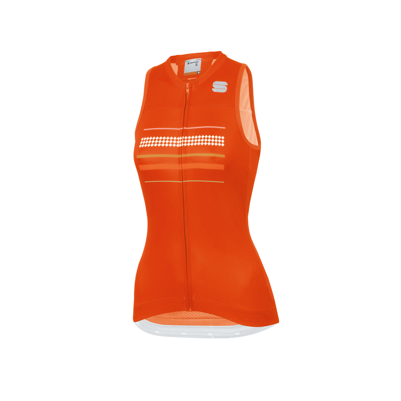 | Sportful Fietsshirt Mouwloos voor Dames Rood - SF Diva W Sleeveless Jersey-Fire Red