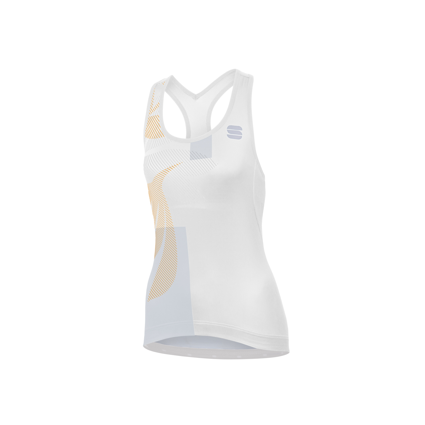 | Sportful Fietsshirt Mouwloos voor Dames Wit Zilver - SF Oasis W Top-White Silver Gold