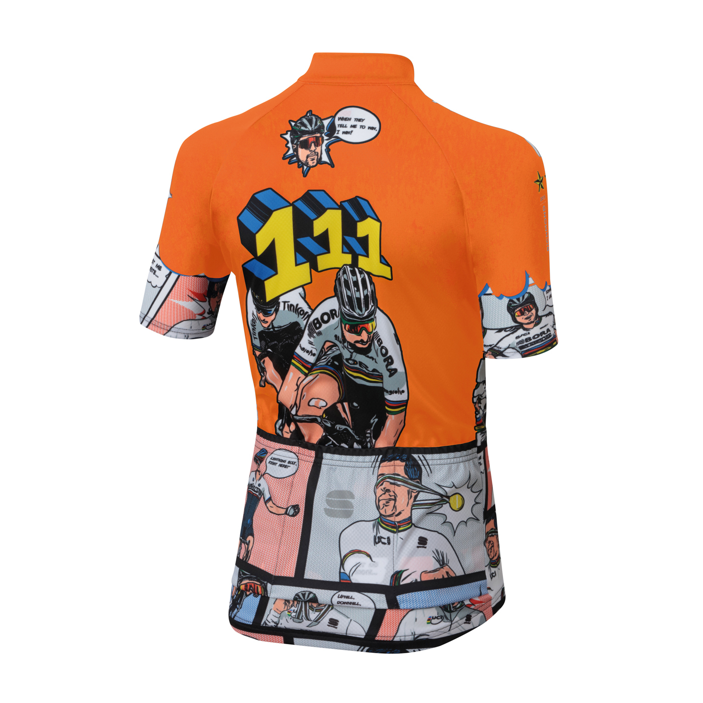 | Sportful Fietsshirt Korte mouwen voor Kids Oranje - SF Super Peter Jersey-Orange Sdr