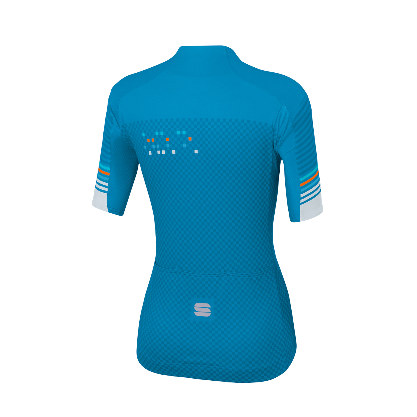 | Sportful Fietsshirt Korte mouwen voor Dames Blauw Wit - SF Sticker W Jersey-Blue A Methyl Blue Wh
