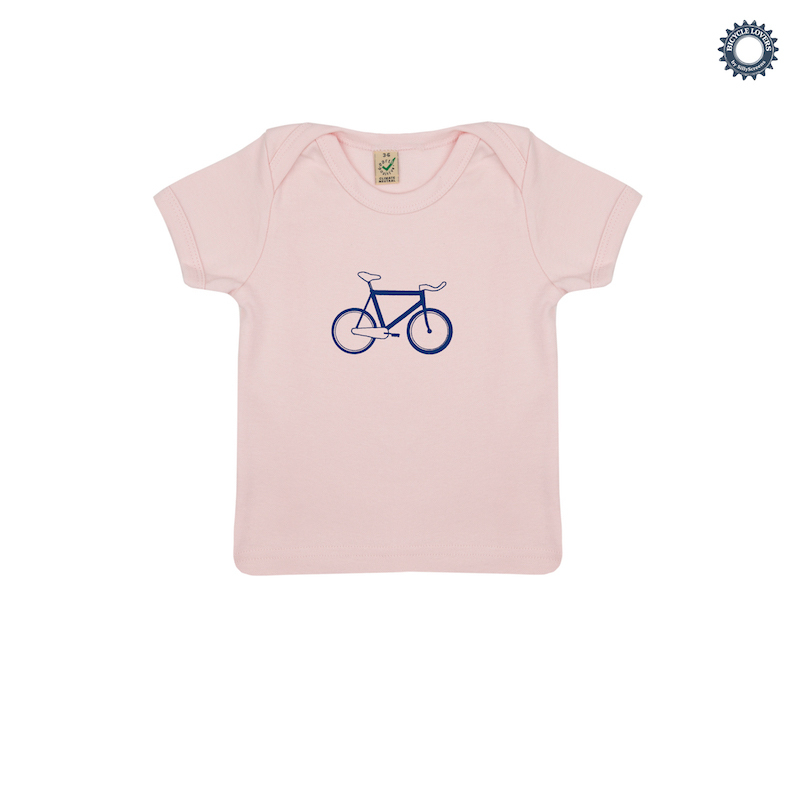 | SillyScreens Baby T-shirt baby  Roze  / BABYRACER, wieler T-shirt, Baby Pink