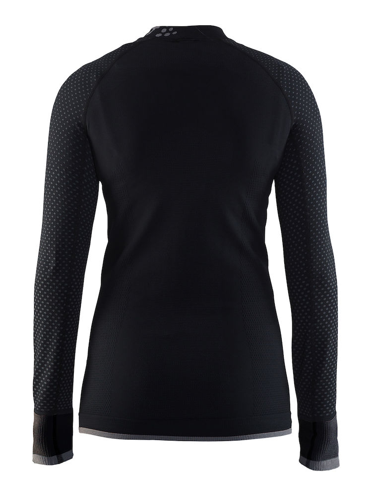 | Craft Ondershirt Lange mouwen Dames Zwart Grijs / WARM INTENSITY CN LS W BLACK/GRANITE