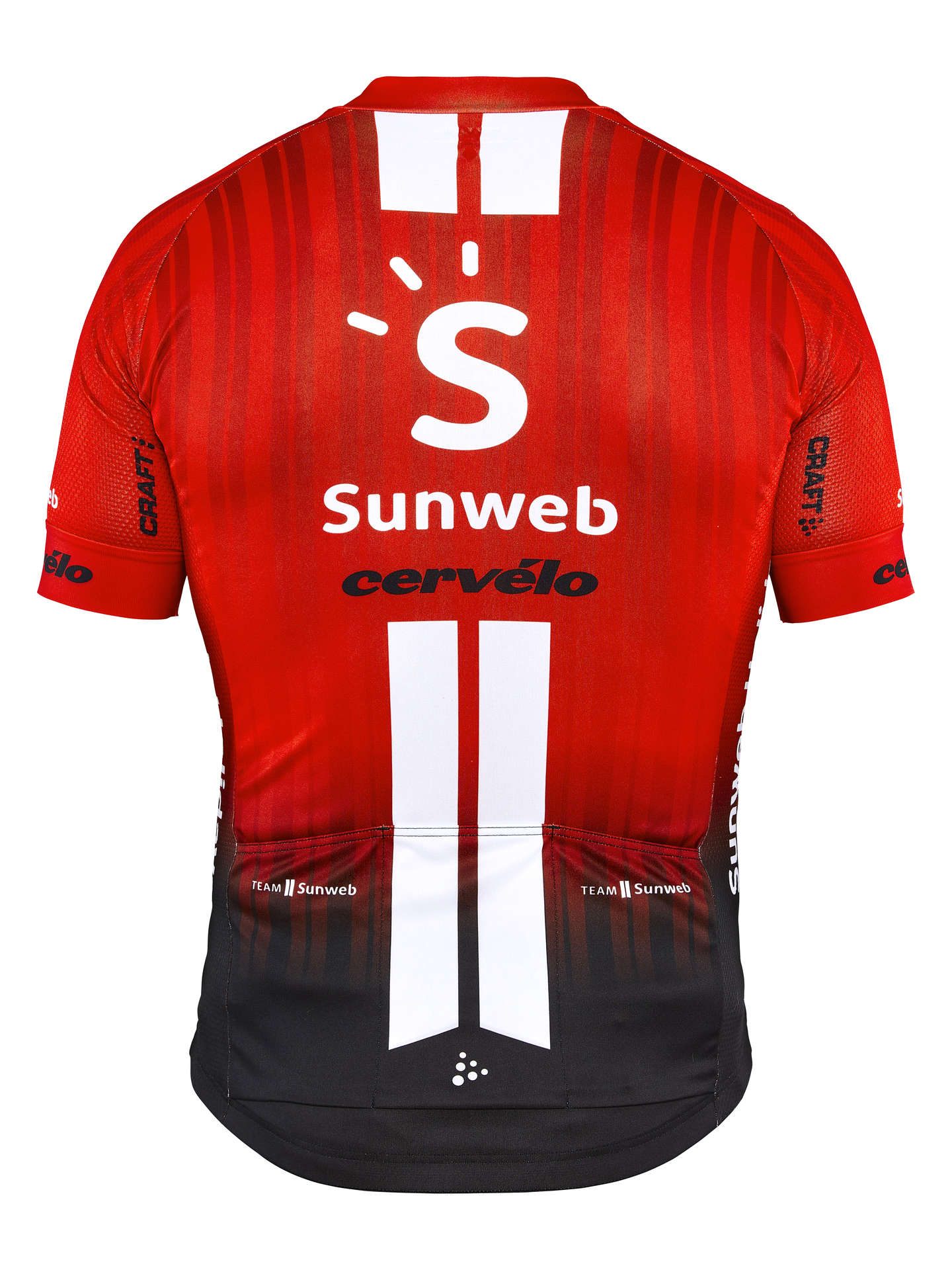 | Craft Fietsshirt korte mouwen Heren Rood Wit / TEAM SUNWEB REPLICA SS JERSEY M TEAM SUNWEB RED