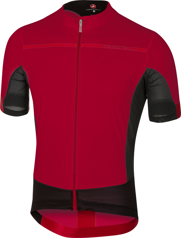 castelli forza pro jersey fietsshirt rood. Black Bedroom Furniture Sets. Home Design Ideas