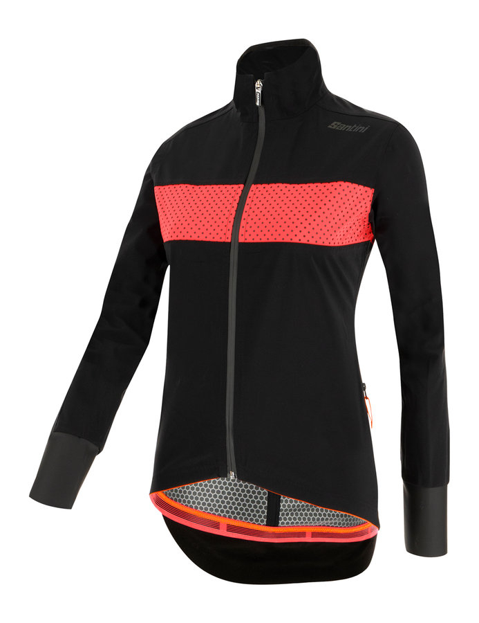 | Santini Fietsjack lange mouwen Zwart Dames - Guard Mercurio Rain Jacket For Women Black