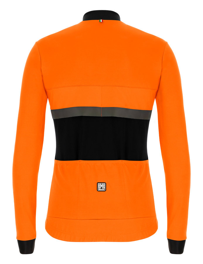 | Santini Fietsjack lange mouwen Fluo Oranje Heren - Adapt Jacket Mid Weight Orange Fluo