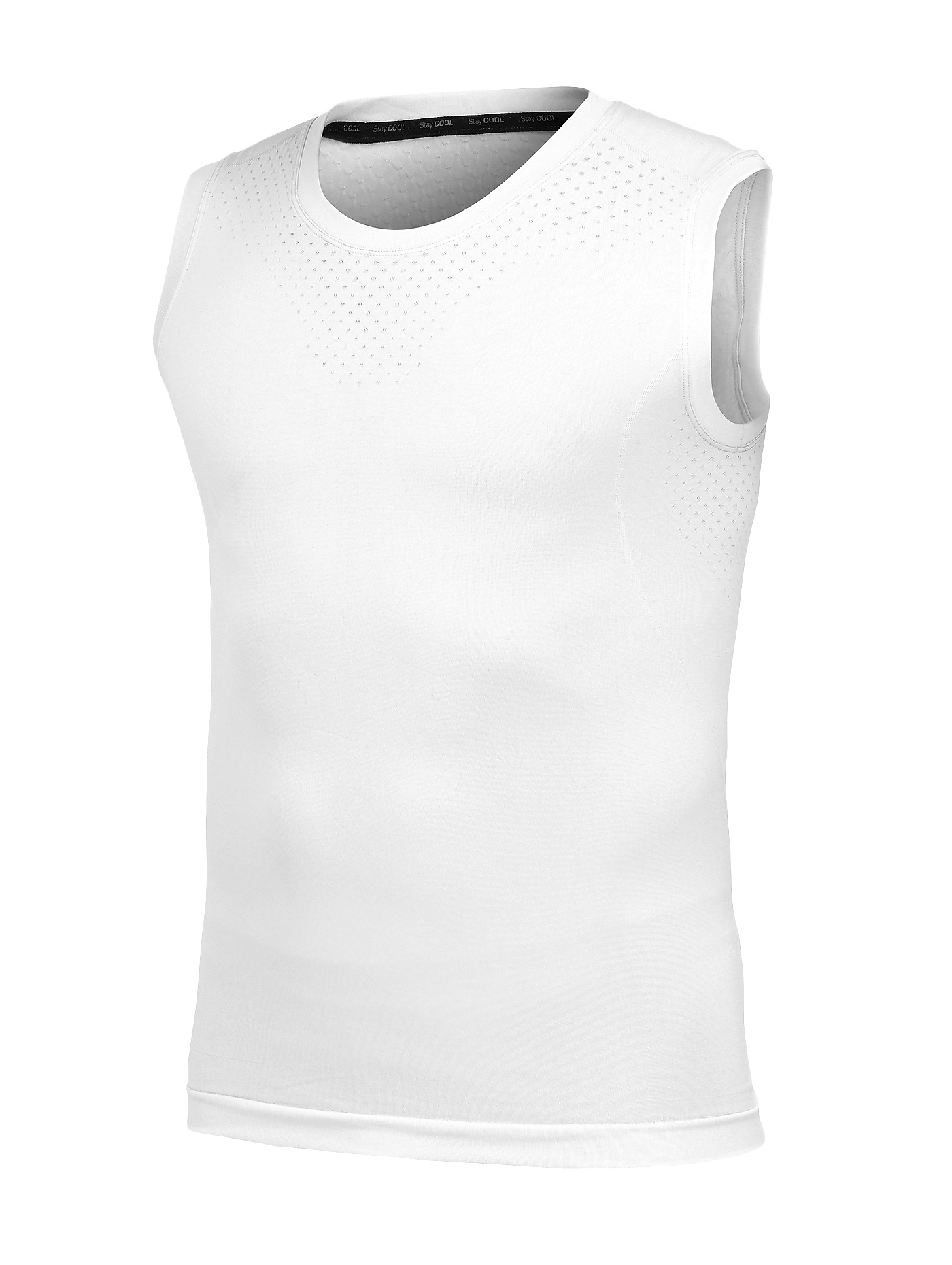 cfe815b31a6f2 Craft Seamless Stay Cool mouwloos ondershirt wit