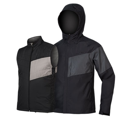 | Endura Regen en Windjack Heren Zwart - Urban Luminite 3 in 1 Jacket II Black
