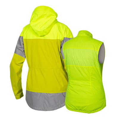 | Endura Regen en Windjack Dames Fluo - Womens Urban Luminite 3 in 1 Jacket II Hi-Viz Yellow