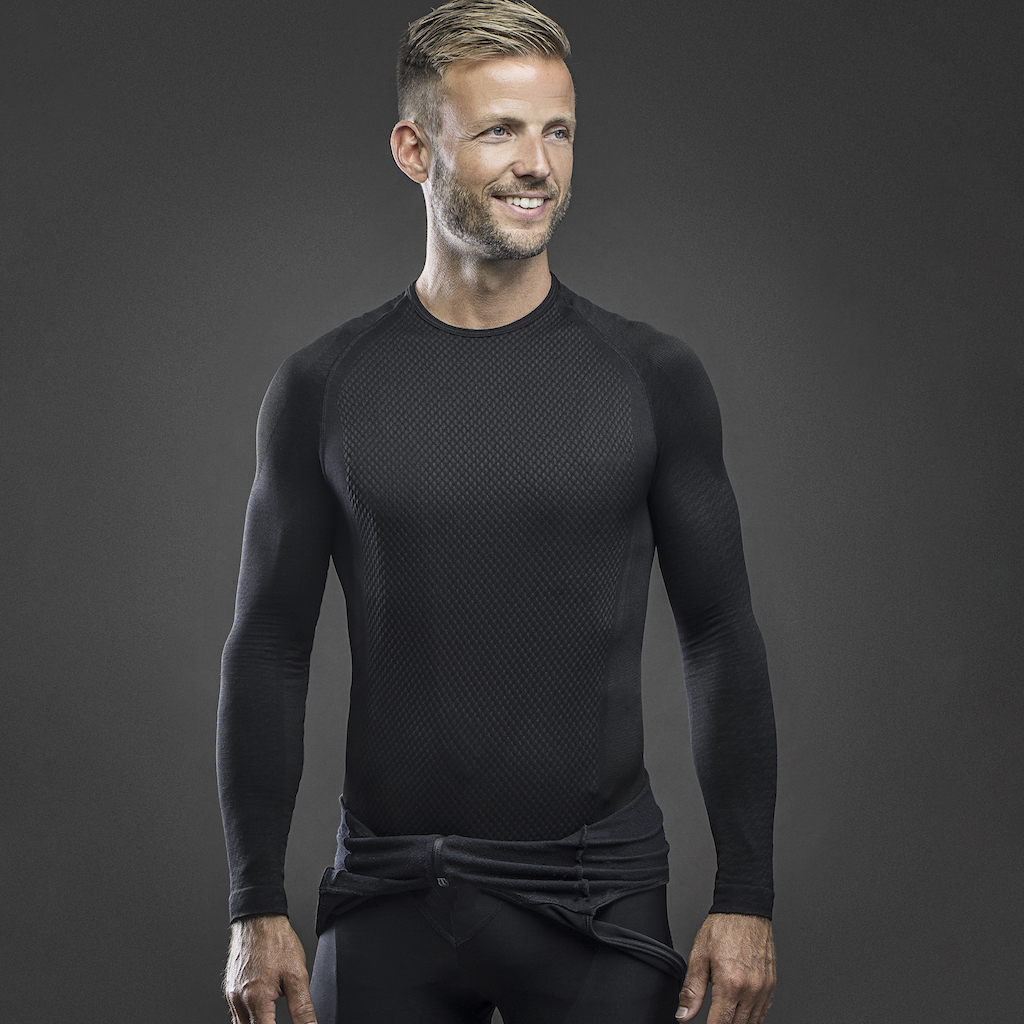 | GripGrab Ondershirt Lange mouwen Zwart  / Expert Seamless Thermal Base Layer LS Black