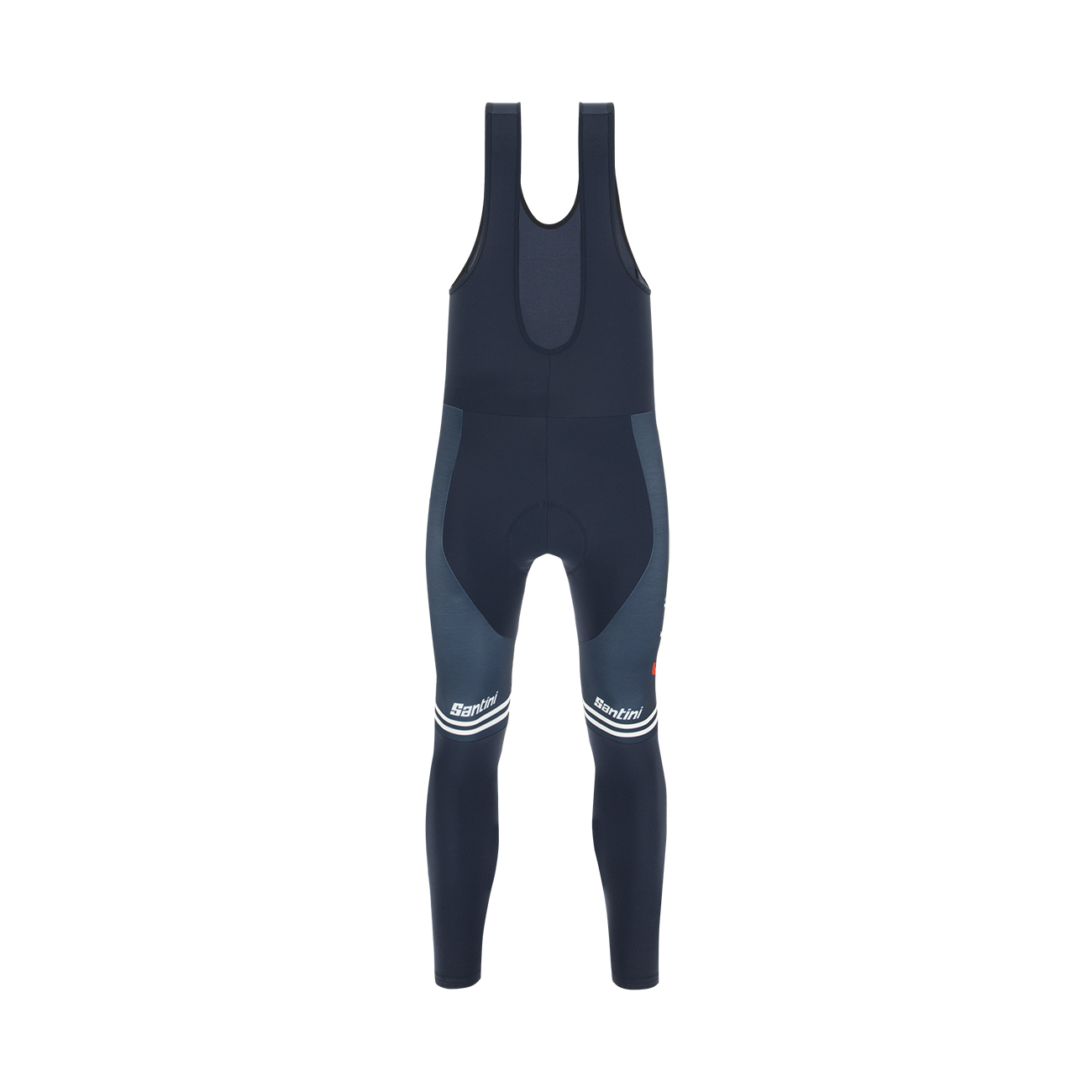 | Santini Fietsbroek Lang met Bretels Winter Heren Blauw - Trek-Segafredo Prime Bib Tights - 2020