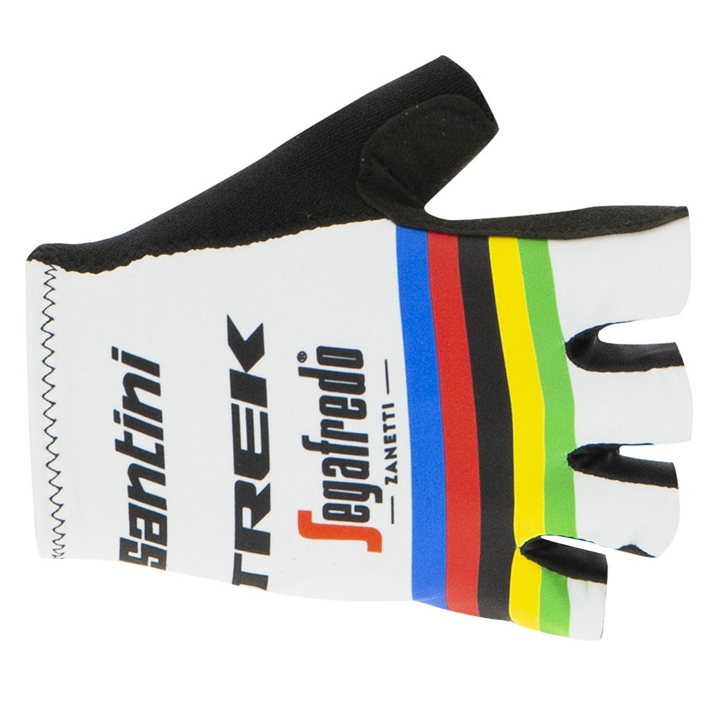 | Santini Fietshandschoenen Zomer Heren Wit Multikleur - Trek-Segafredo Short Race Gloves  - World Champion - 2020
