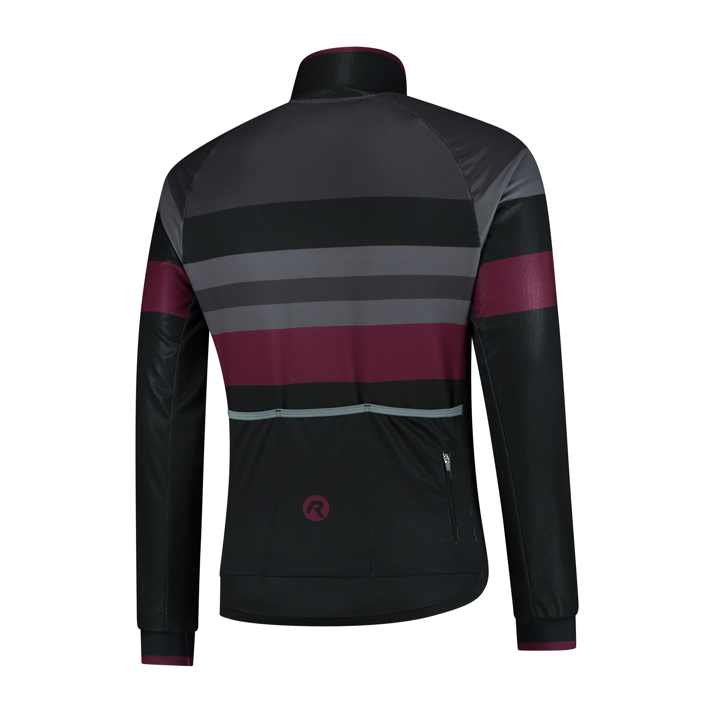 | Rogelli Peak Fietsjack winter Heren Zwart Bordeaux