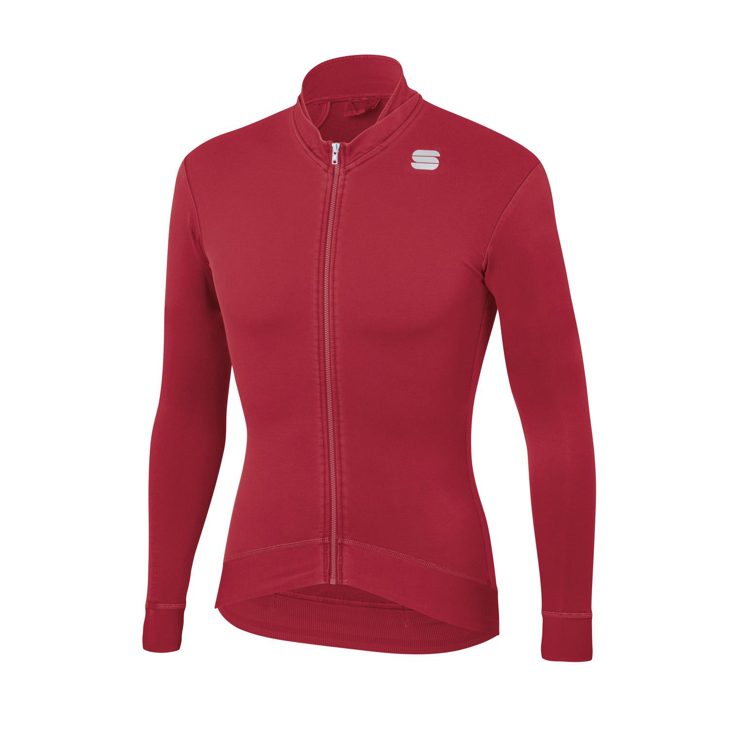 Sportful Fietsshirt lange mouwen Heren Rood - MONOCROM THERMAL JERSEY RED RUMBA