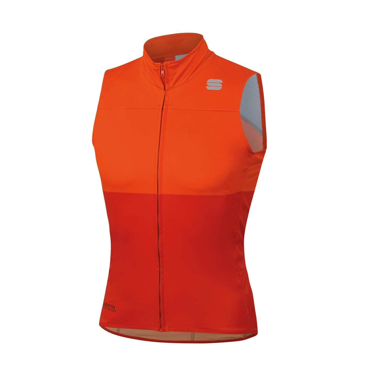 Sportful Windstopper Mouwloos voor Heren Rood Oranje - SF Bodyfit Pro Vest-Fire Red Orange Sdr