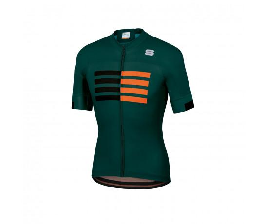Sportful Fietsshirt Korte mouwen voor Heren Groen Zwart - SF Wire Jersey-Sea Moss Black Orange