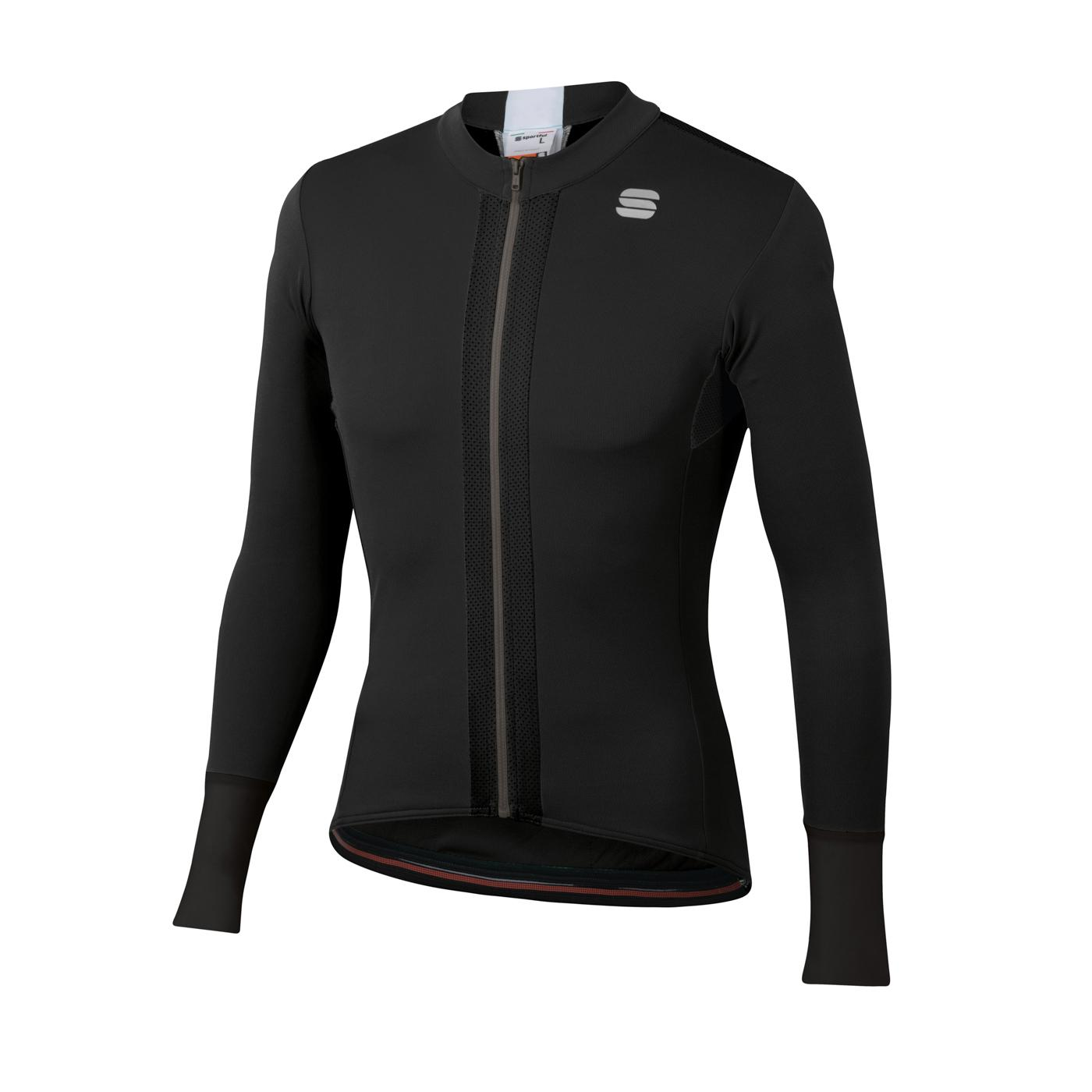 Sportful Fietsshirt Lange mouwen voor Heren Zwart Wit - SF Strike Long Sleeve Jersey-Black White