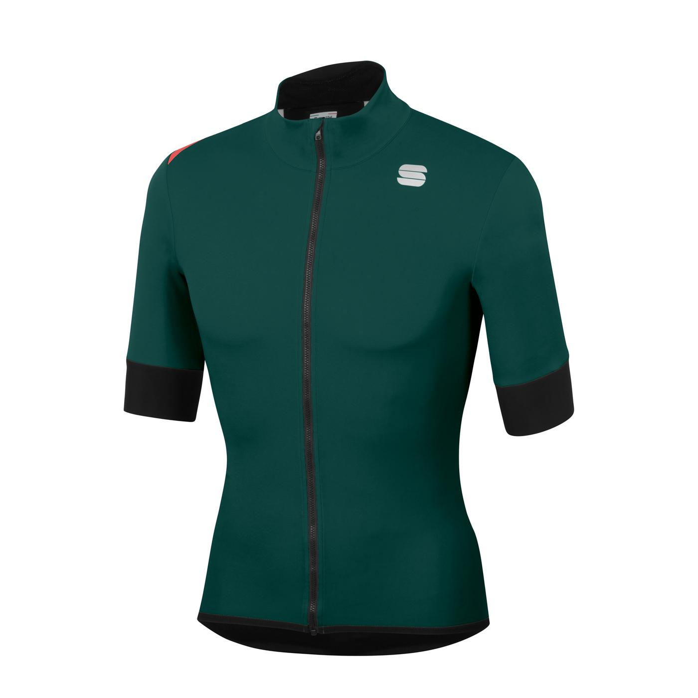 Sportful Fietsjack Korte mouwen Zeer sterk waterafstotend voor Heren Groen - SF Fiandre Light No Rain Jacket S-Sea Moss
