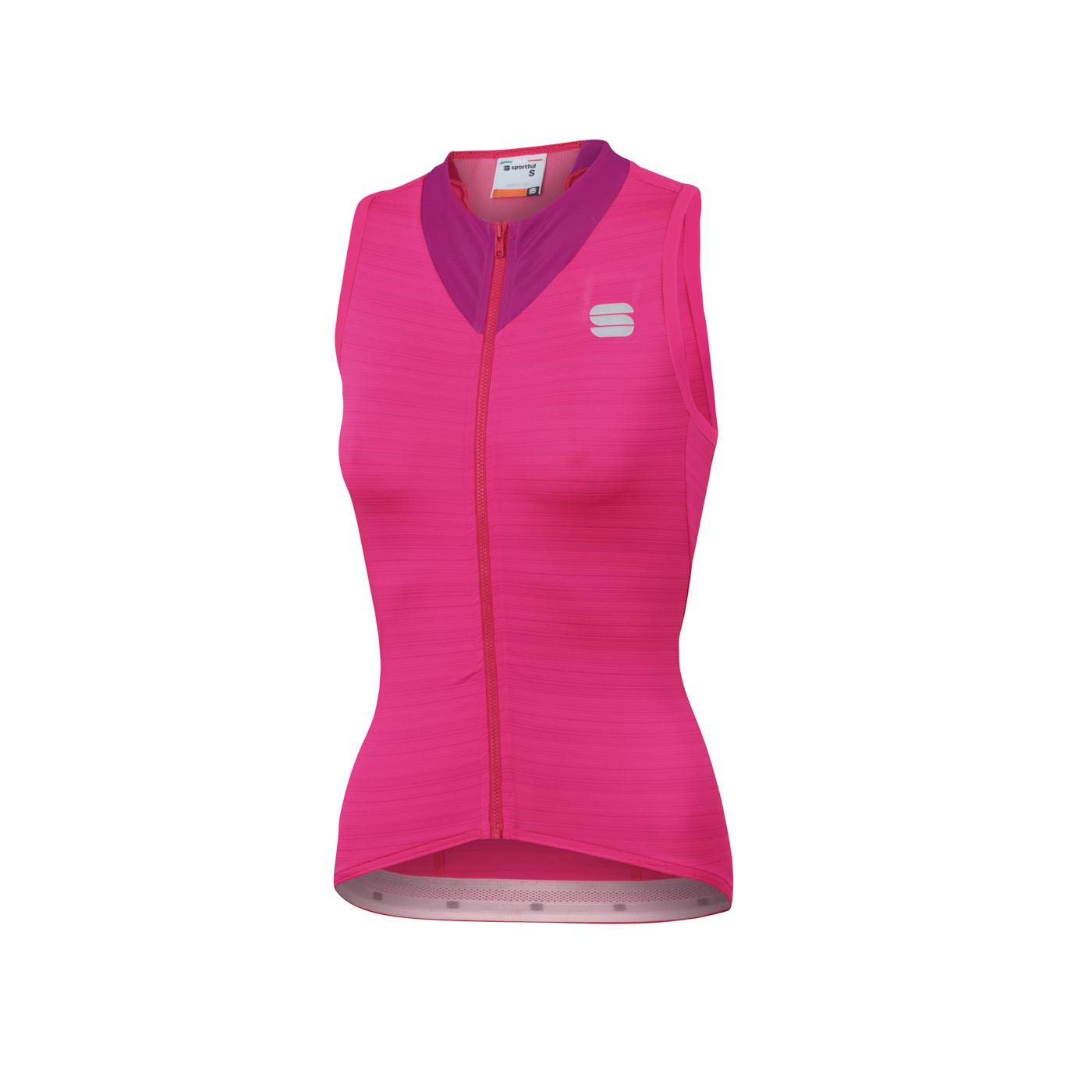 Sportful Fietsshirt Mouwloos voor Dames Roze - SF Kelly W Sleeveless Jersey-Bubble Gum