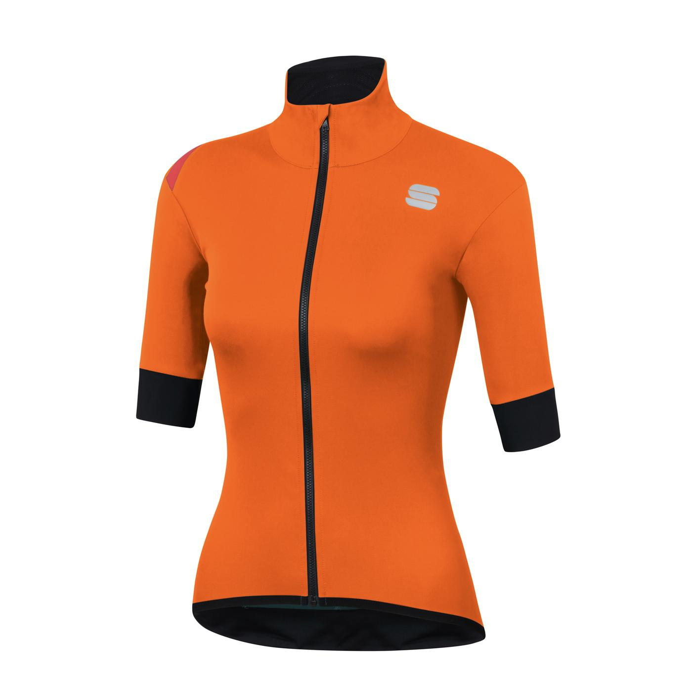 Sportful Fietsjack Lange mouwen voor Dames Oranje - SF Fiandre Light Norain W Jacket-Orange Sdr