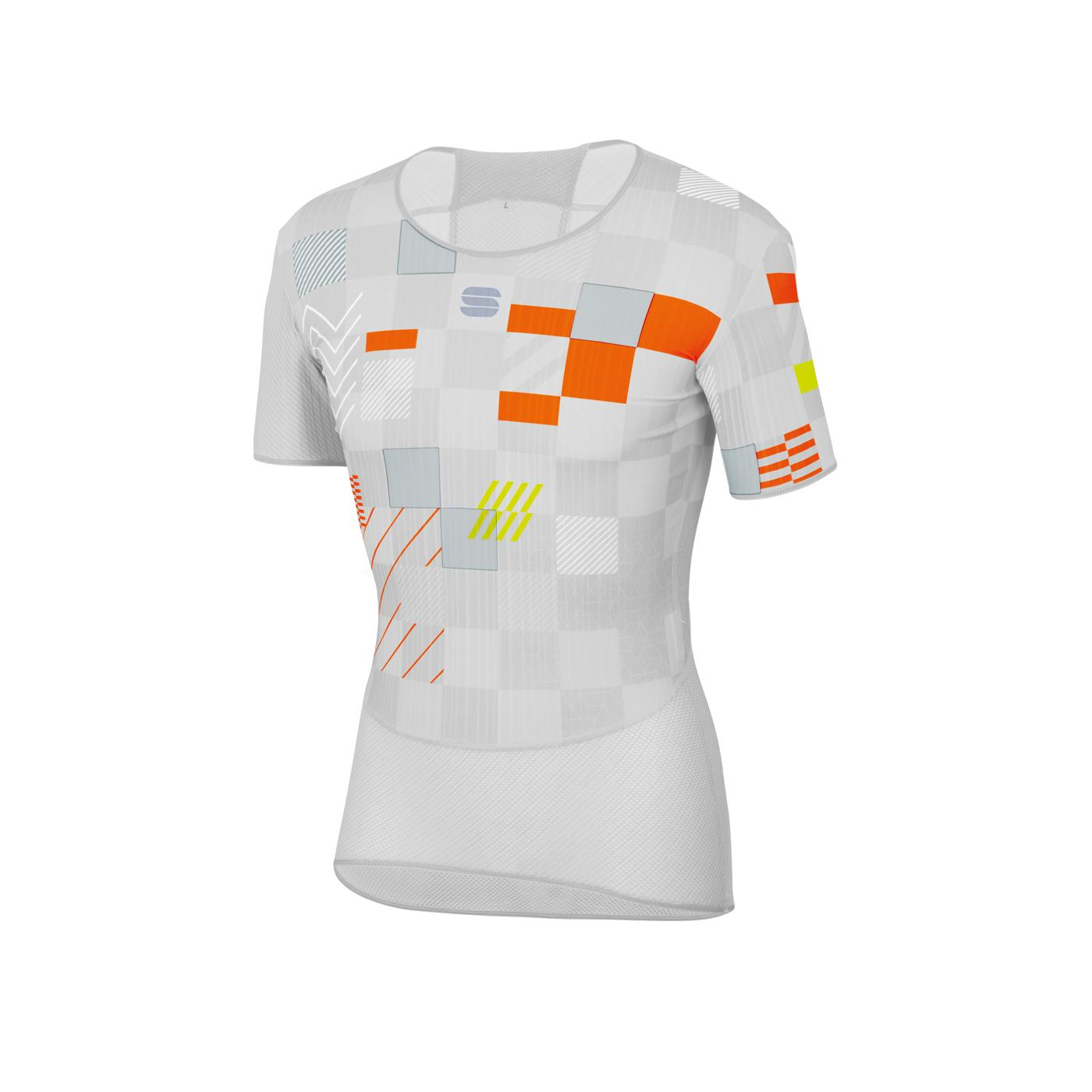 Sportful Ondershirt Korte mouwen voor Heren Wit Zilver - SF Pro Baselayer Tee-White Silver Orange