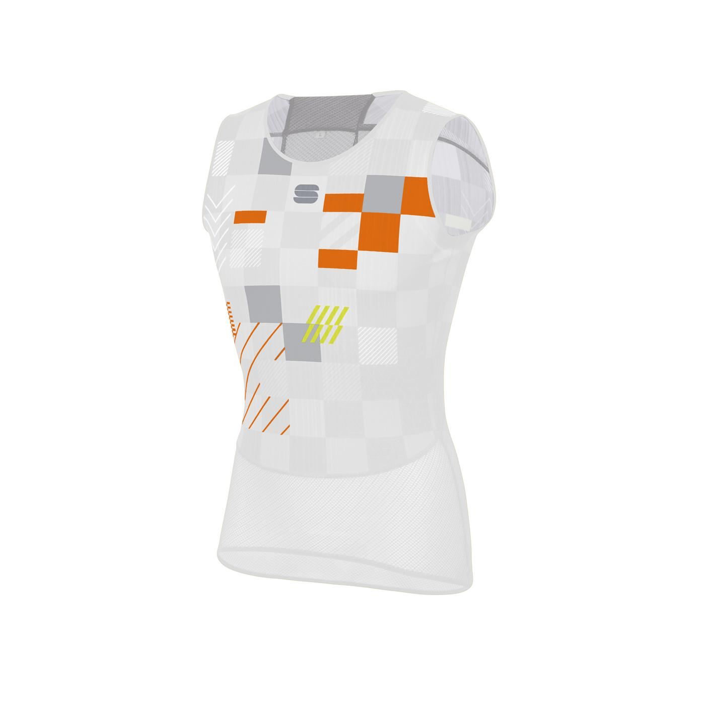 Sportful Ondershirt Mouwloos voor Heren Wit Zilver - SF Pro Baselayer Sleeveless.-White Silver Orange