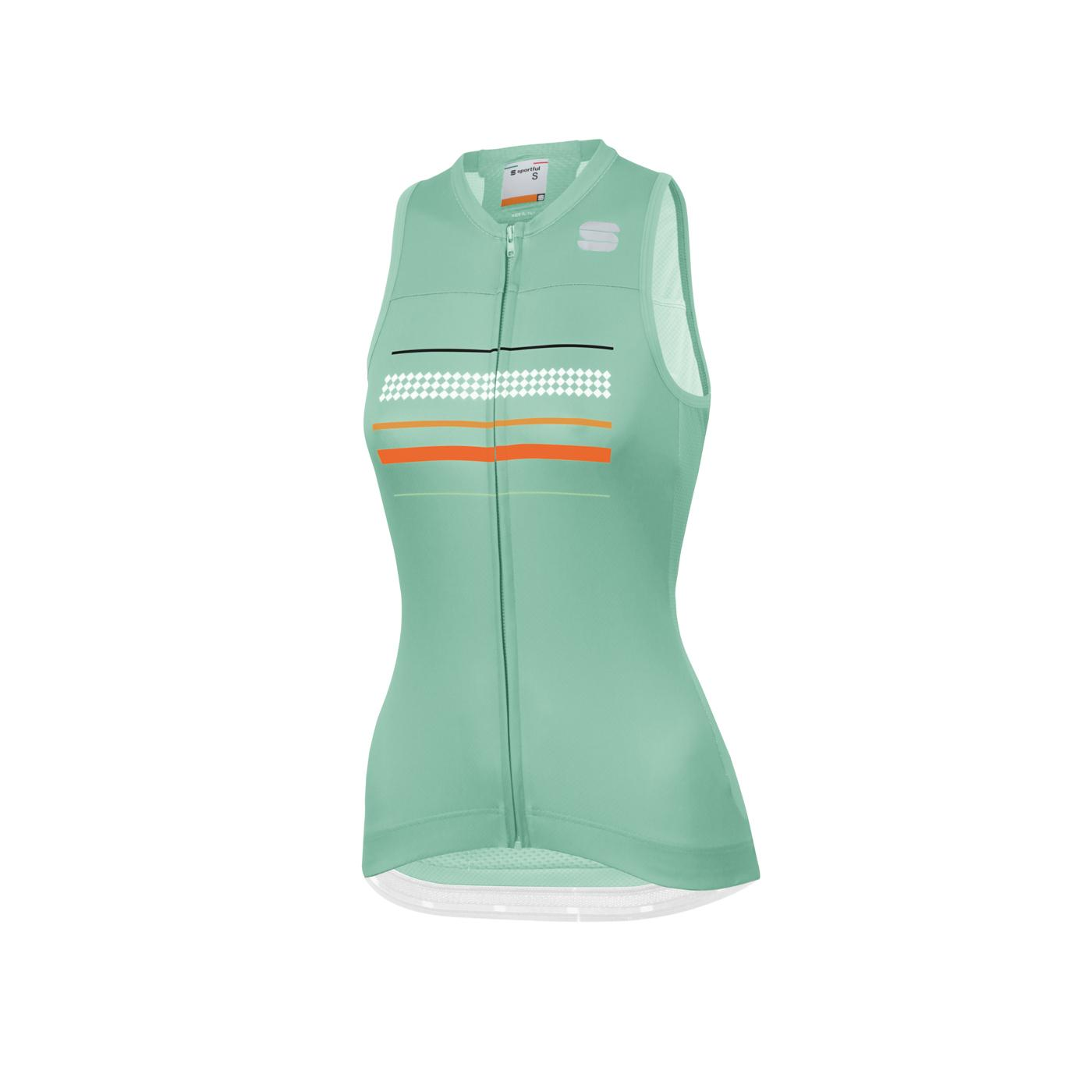 | Sportful Fietsshirt Mouwloos voor Dames Mint - SF Diva W Sleeveless Jersey-Milk Mint