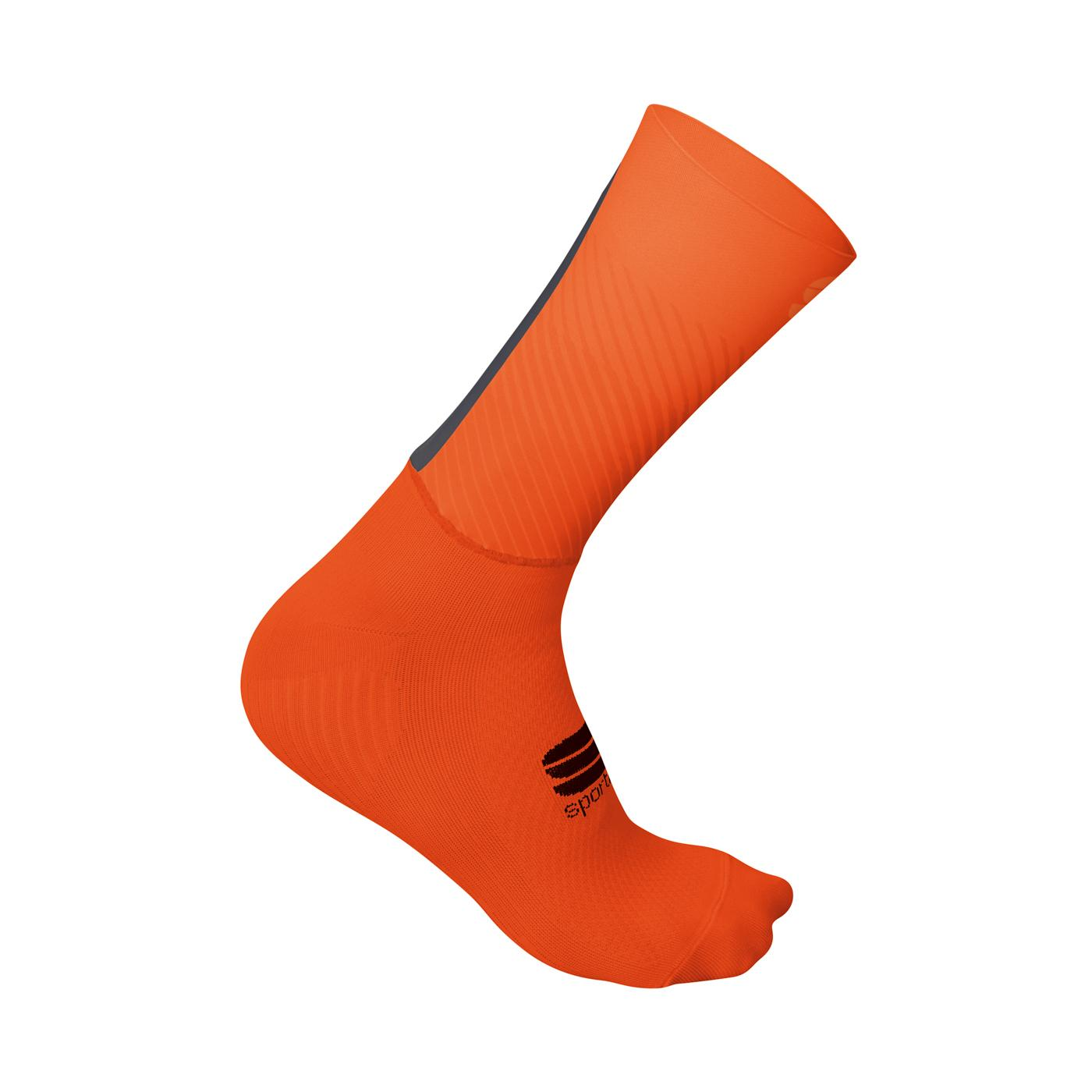 Sportful Fietssokken zomer  voor Heren Rood Oranje - SF Evo Socks-Fire Red Orange Anthr