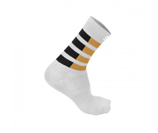 Sportful Fietssokken zomer voor Heren Wit  - SF Mate Socks White Anthracite Gold