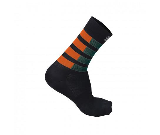 Sportful Fietssokken zomer  voor Heren Groen Oranje - SF Mate Socks-Sea Moss Orange Black