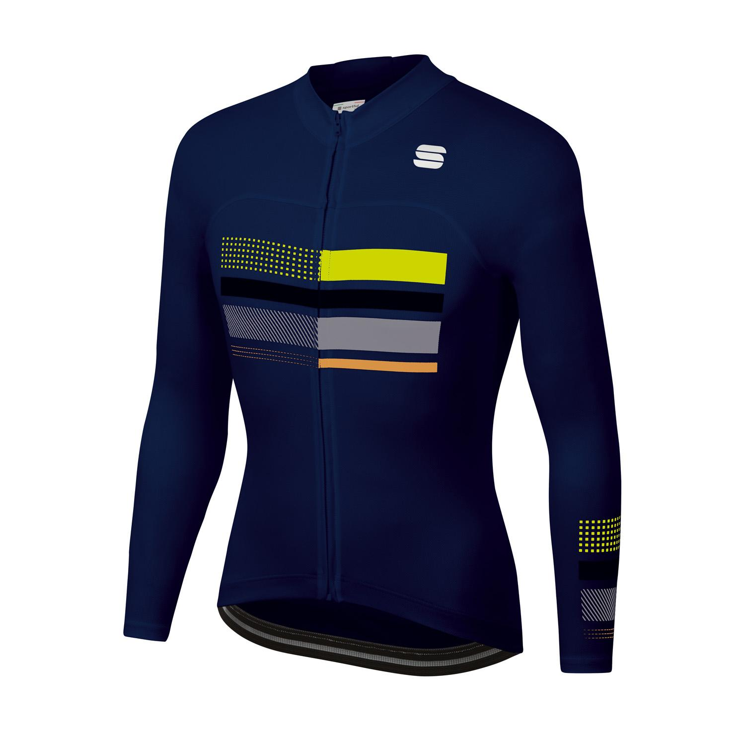 Sportful Fietsshirt lange mouwen Heren Blauw - WIRE THERMAL JERSEY BLUE