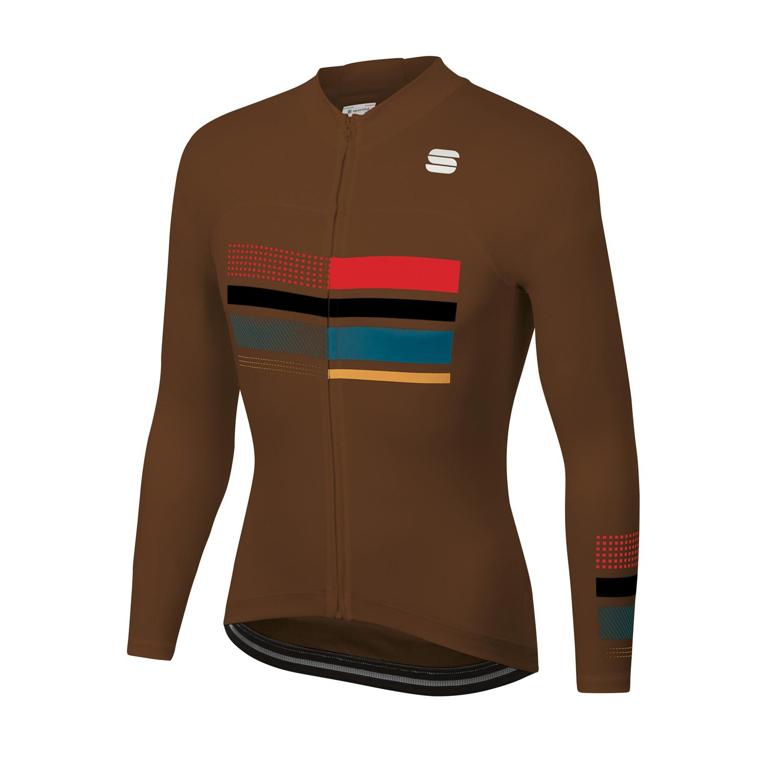 Sportful Fietsshirt lange mouwen Heren Bruin - WIRE THERMAL JERSEY CHOCOLATE