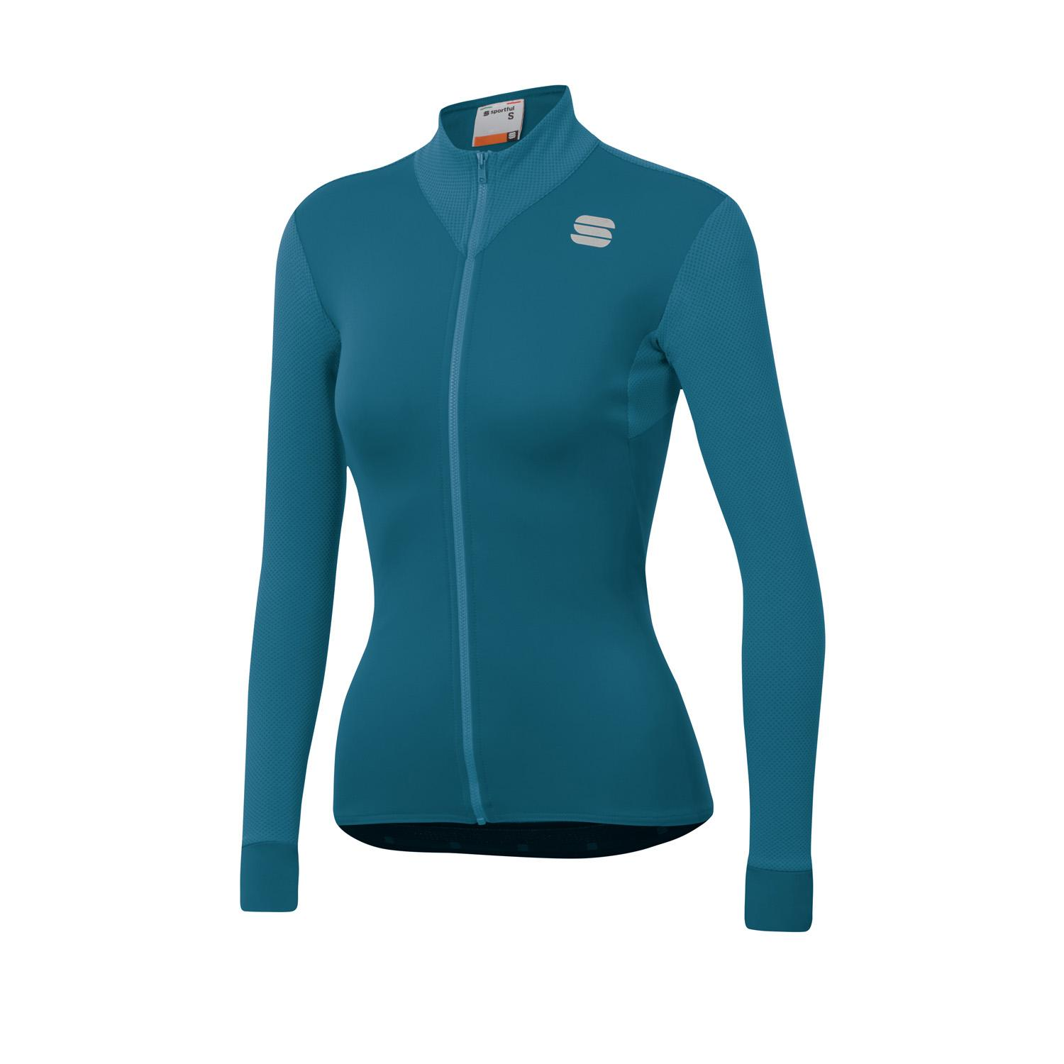 Sportful Fietsshirt lange mouwen Dames Blauw - KELLY THERMAL JERSEY BLUE CORSAIR
