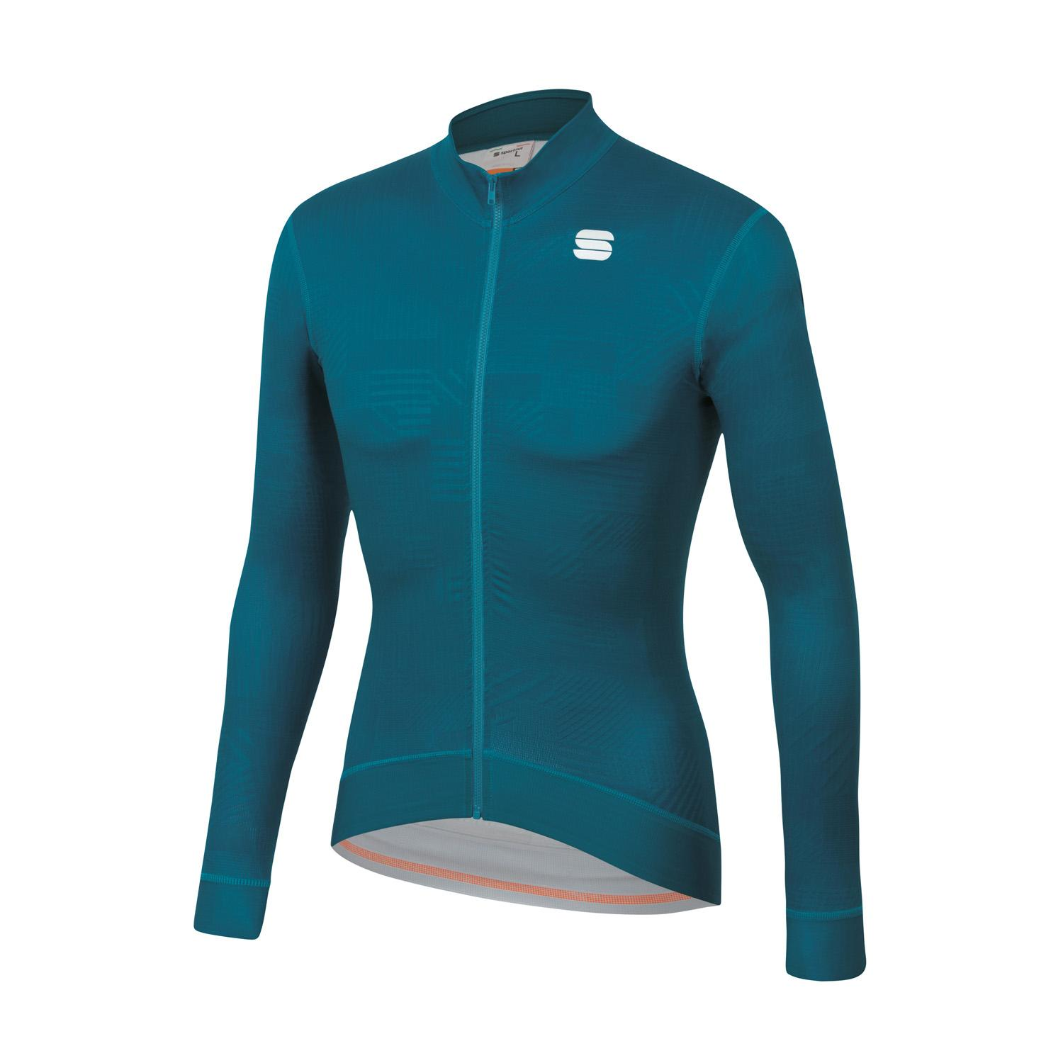 Sportful Fietsshirt lange mouwen Heren Blauw - LOOM THERMAL JERSEY BLUE CORSAIR