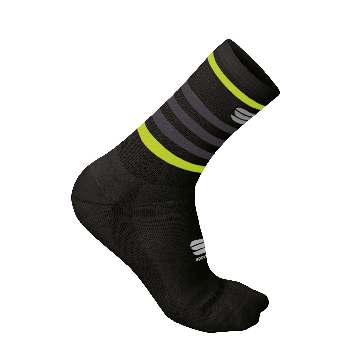 Sportful Fietssokken winter Unisex Zwart - WINTER SOCKS BLACK YELLOW FLUO