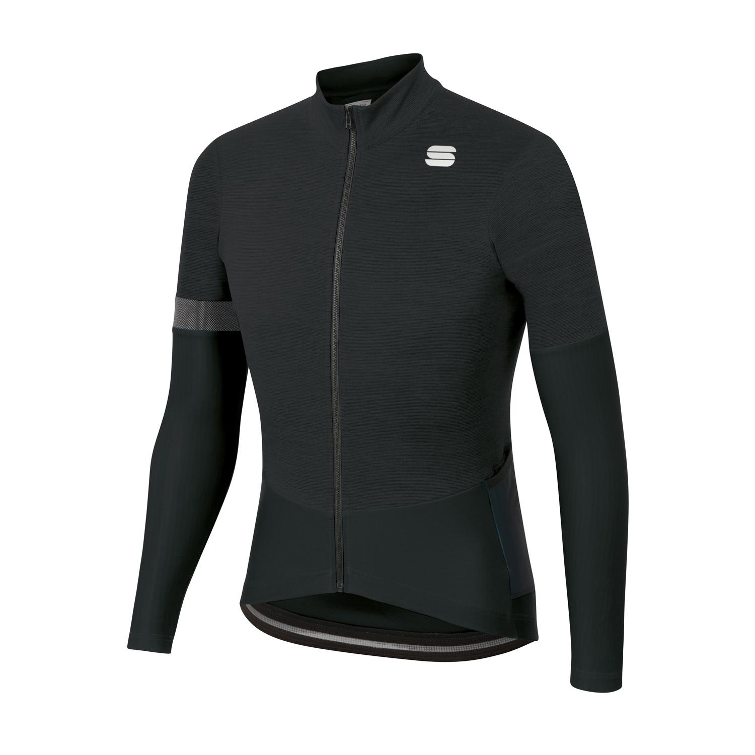 Sportful Fietsshirt lange mouwen Heren Zwart - SUPERGIARA THERMAL JERSEY BLACK