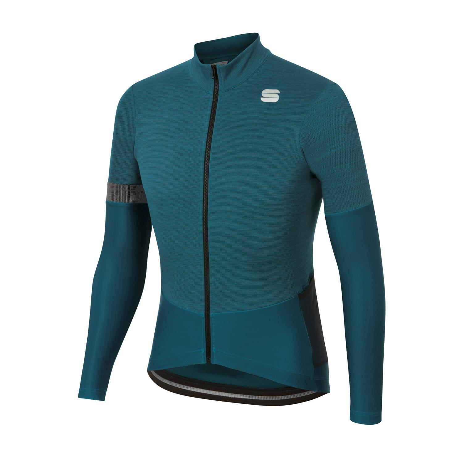 Sportful Fietsshirt lange mouwen Heren Blauw - SUPERGIARA THERMAL JERSEY BLUE CORSAIR