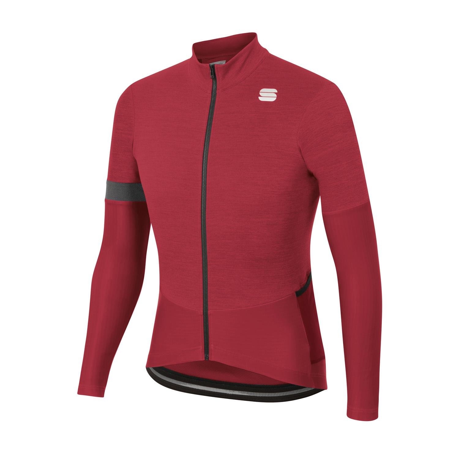 Sportful Fietsshirt lange mouwen Heren Rood - SUPERGIARA THERMAL JERSEY RED RUMBA