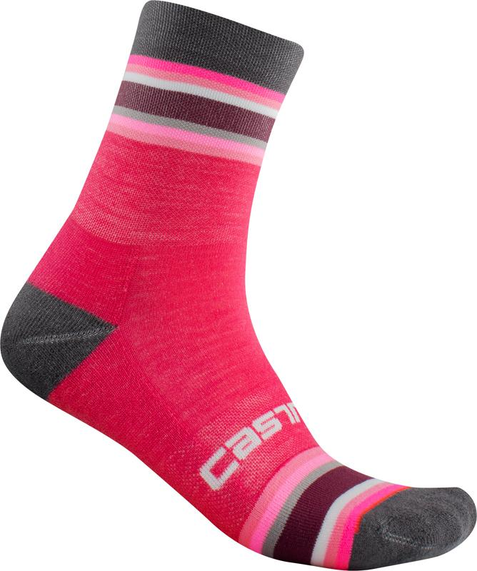 Castelli Fietssokken winter Dames Paars - Striscia 13 Sock Electric Magenta