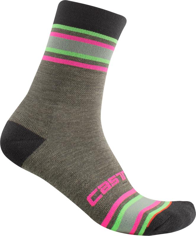 Castelli Fietssokken winter Dames Groen - Striscia 13 Sock Military Green