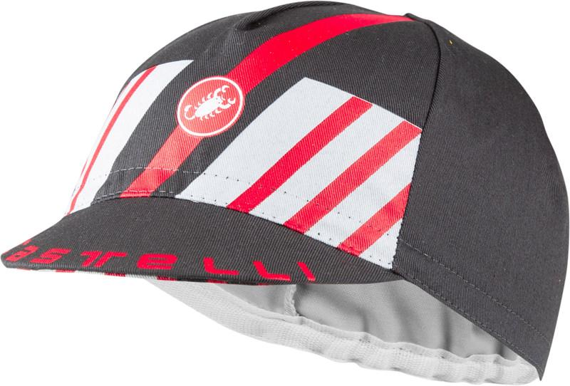 Castelli Fietspetje Heren Grijs Rood - CA Hors Categorie Cap Dark Gray Red