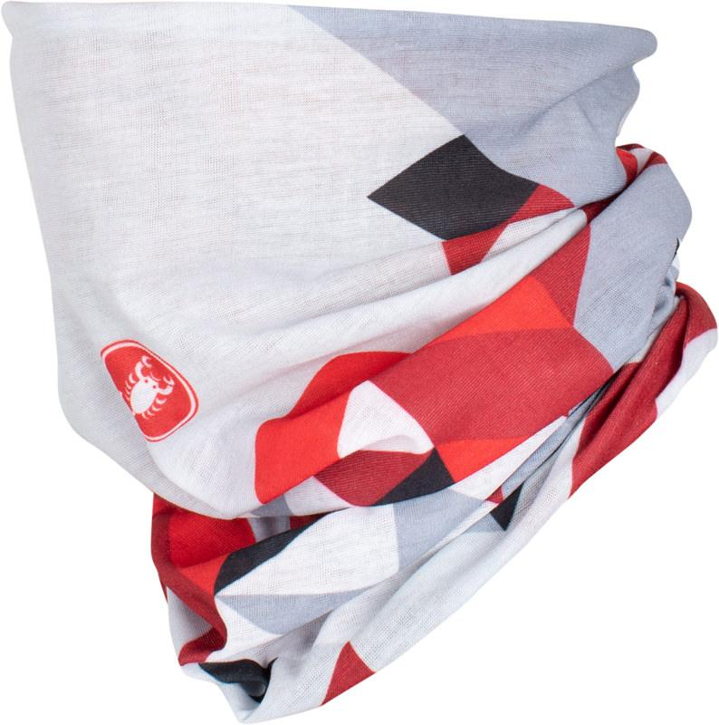 Castelli Bandana Dames Wit Rood - CA Prisma 2 Headthingy White Red
