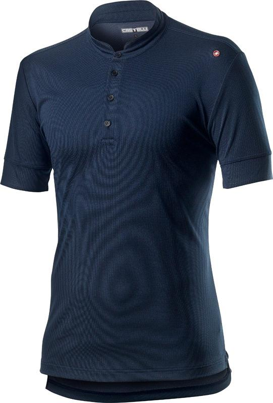 Castelli Casual Polo Heren Blauw - CA Tech Polo Dark Infinity Blue