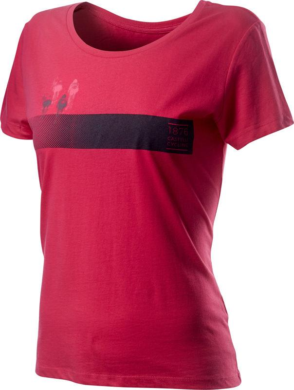 Afbeelding Castelli Casual T-shirt Dames Rood - CA Logo W Tee Raspberry