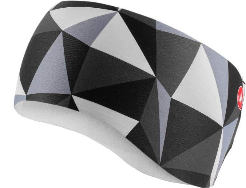 Castelli Haarband Dames Zwart Wit - Triangolo Headband Black/White