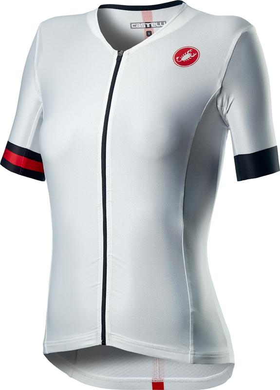 Castelli Fietsshirt Triatlon Dames Wit Zwart - CA Free Speed 2 W Race Top White Black