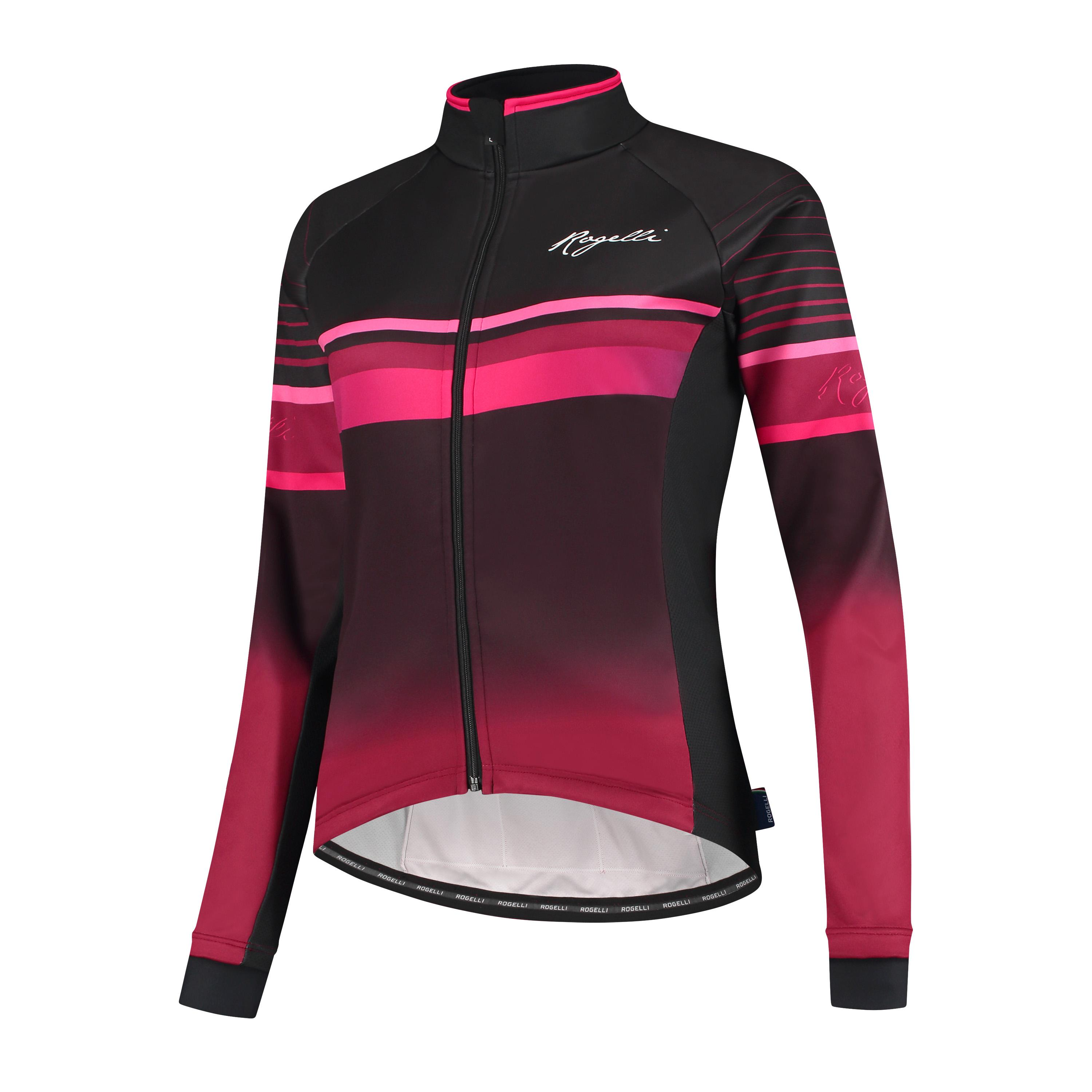 Rogelli Impress Fietsjack winter Dames Bordeaux Roze