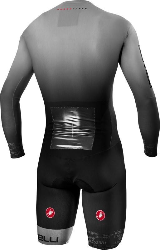 Castelli Snelpak Heren Grijs Zwart - CA Body Paint 4.X Speed Suit Silver Gray Black