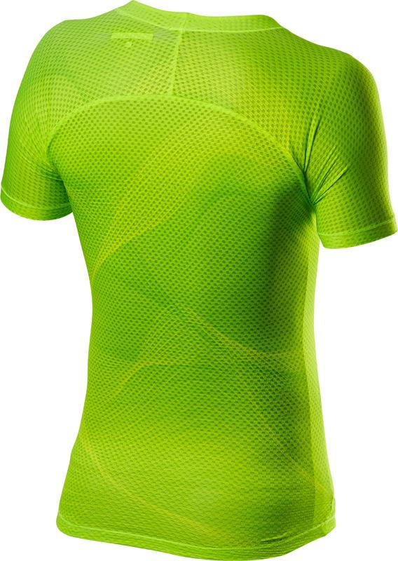 Castelli Ondershirt Heren Fluo - CA Pro Mesh Short Sleeve Yellow Fluo