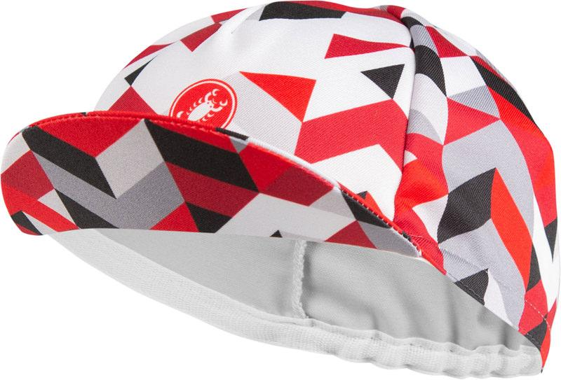 Afbeelding Castelli Fietspetje Dames Wit Rood - CA Prisma 2 Cap White Red